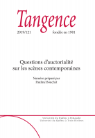 Couverture Tangence 121