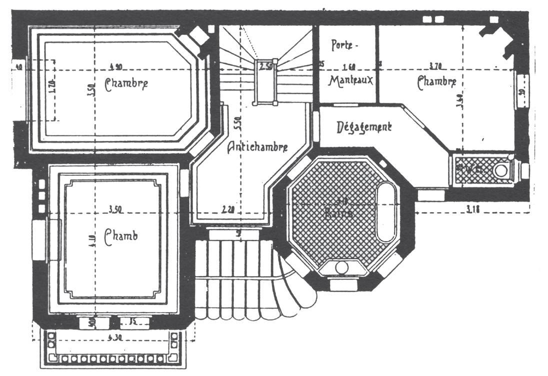 La mise au propre en architecture for Plan architecte chambre hotel