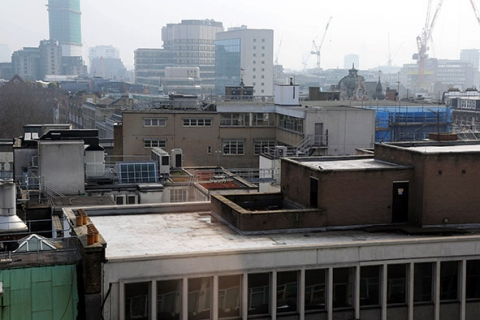 Roof tops of London