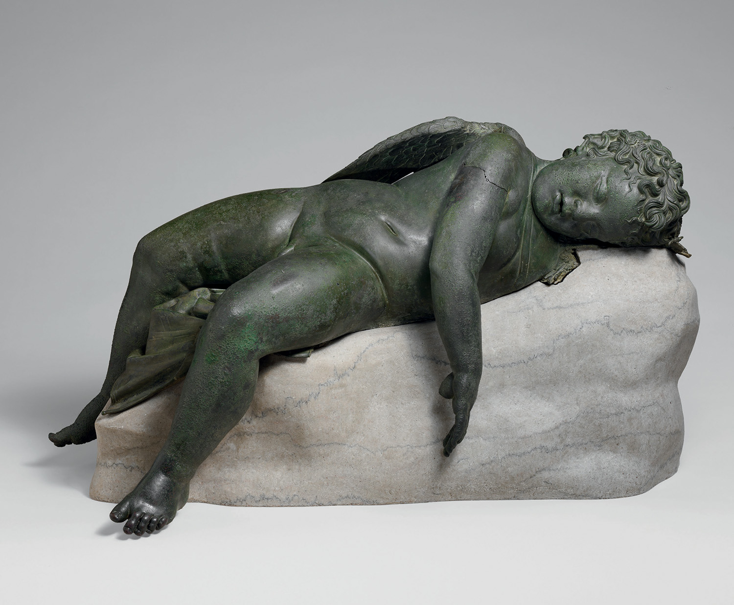 Image result for bronze statue of eros sleeping