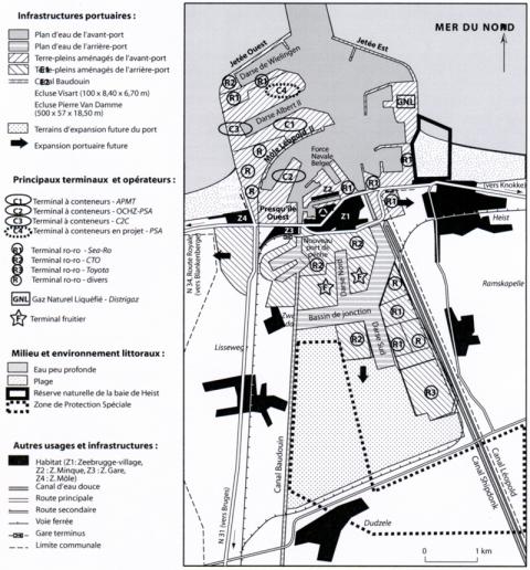 Figura 1. Strutture portuali di Zeebuge (situazione a metà del 2007).