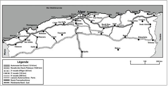 Carte Algerie Autoroute Est Ouest.Les Liaisons Maritimes De L Algerie Dans L Espace Euro