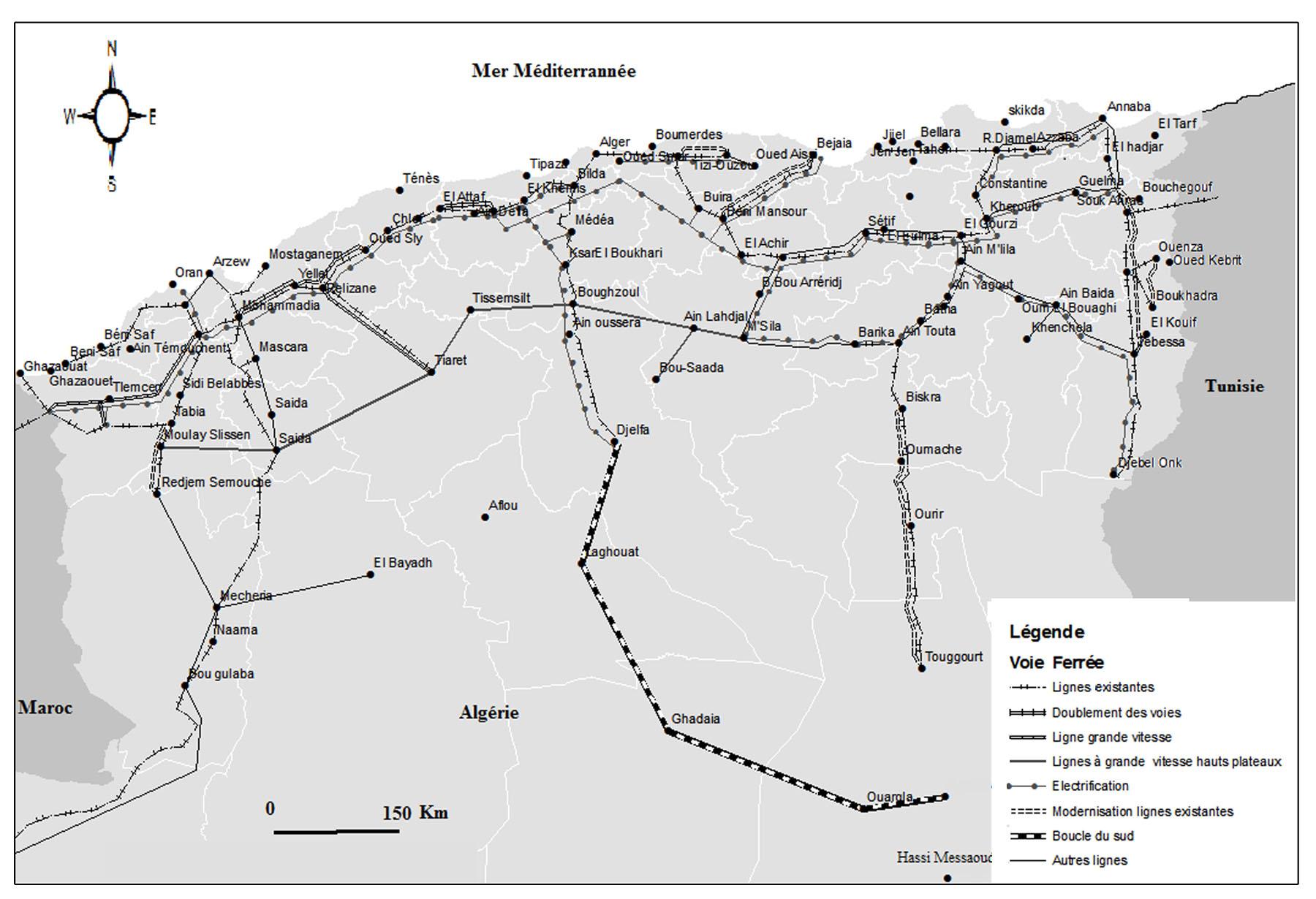 Carte Algerie Beni Saf.Les Liaisons Maritimes De L Algerie Dans L Espace Euro