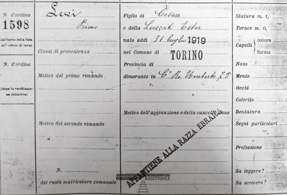 Primo Levi En Het Verzet