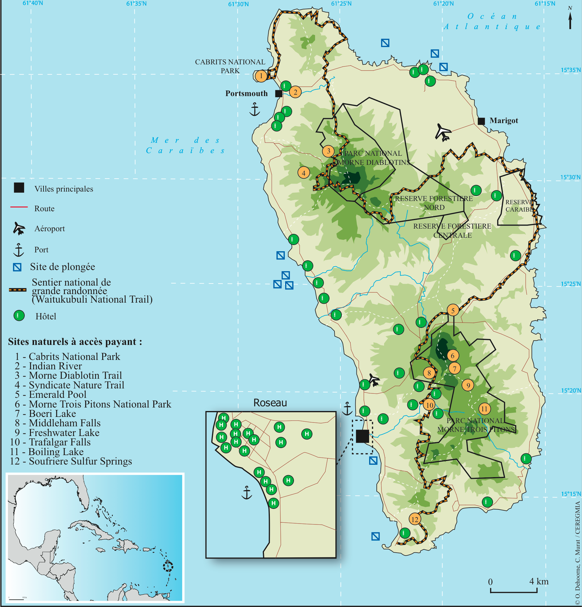 Ecotourism And Natural Resources In Dominica Comanagement As An - Dominica map hd pdf