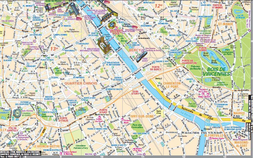 Plan paris lieux touristiques for Lieux touristiques paris