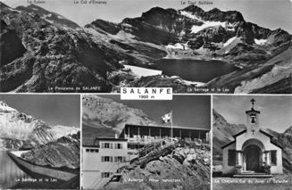 Illustration 2. Carte postale du barrage de Salanfe, 1962