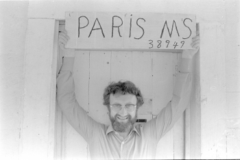 Michel Fabre in Paris, Mississippi, 1979. Photo by Bill Ferris, University of Mississippi Special Collections