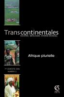 Transcontinentales 2 - Afrique plurielle