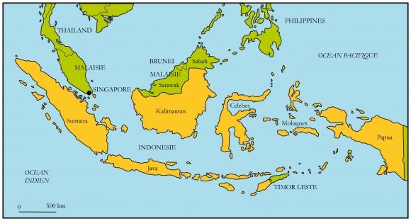 Carte Asie Malaisie Indonesie.L Emigration Indonesienne En Malaysie