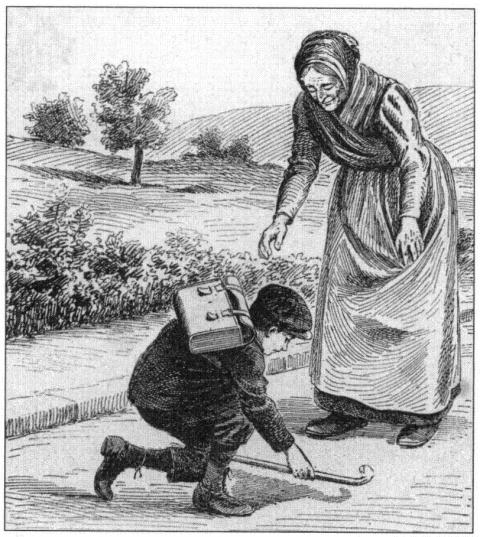 Image 1: «La route qui conduit l'enfant à l'école du village est le chemin du Bien.».