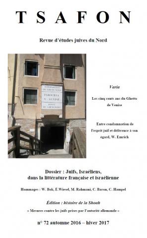 Tsafon Revue D études Juives Du Nord