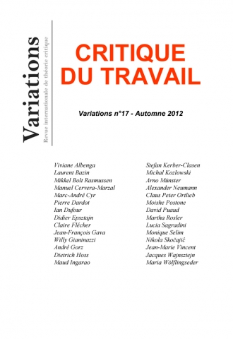 Couverture de Variations, n°17, 2012