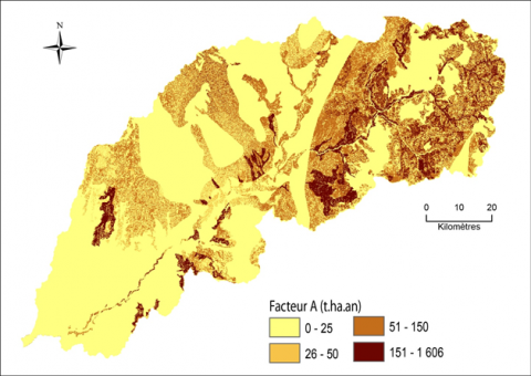 Figure 9. Estimation des pertes de sols/ Soil loss assessment