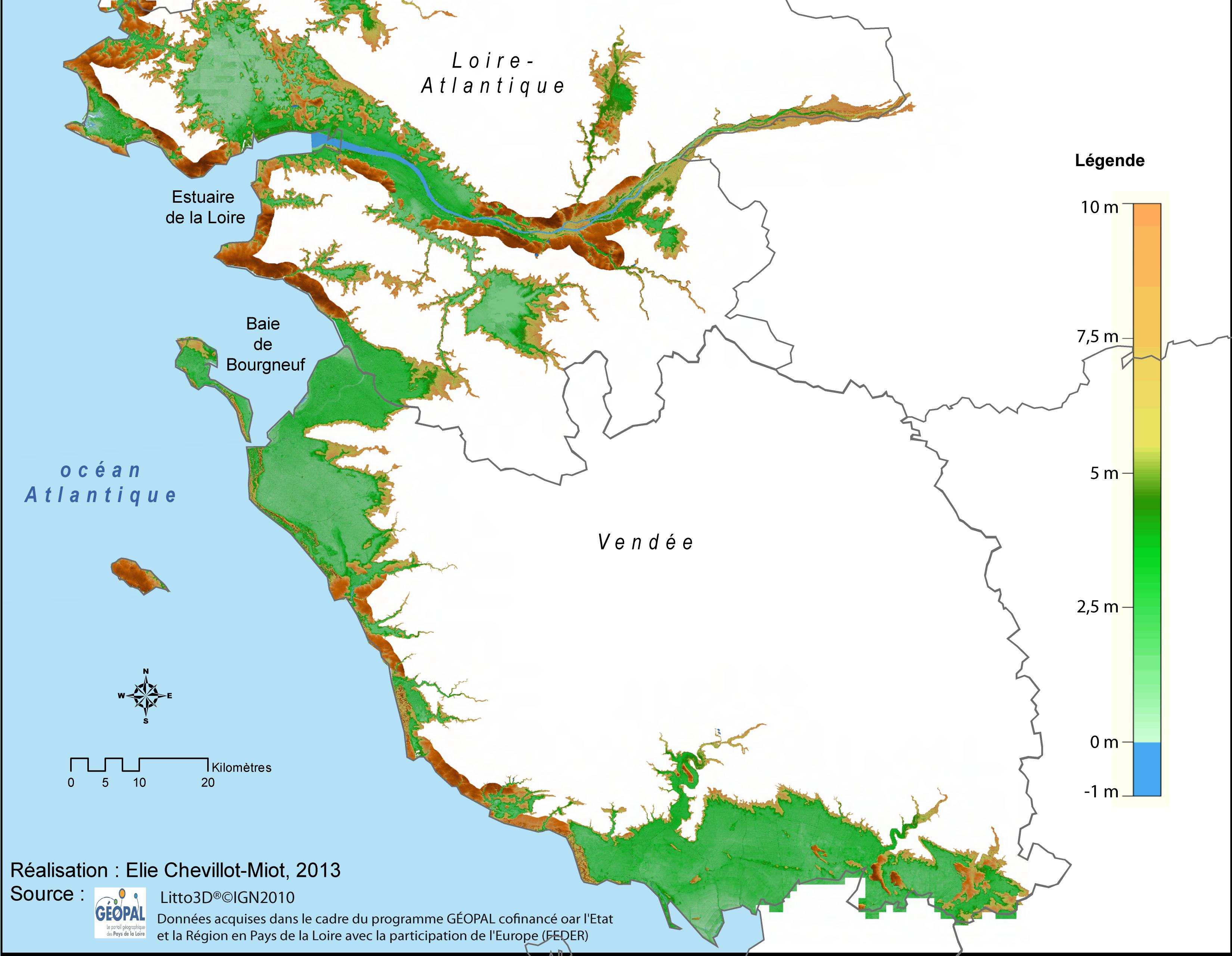 carte zone inondable vendée La vulnérabilité face au risque de submersion marine : exposition