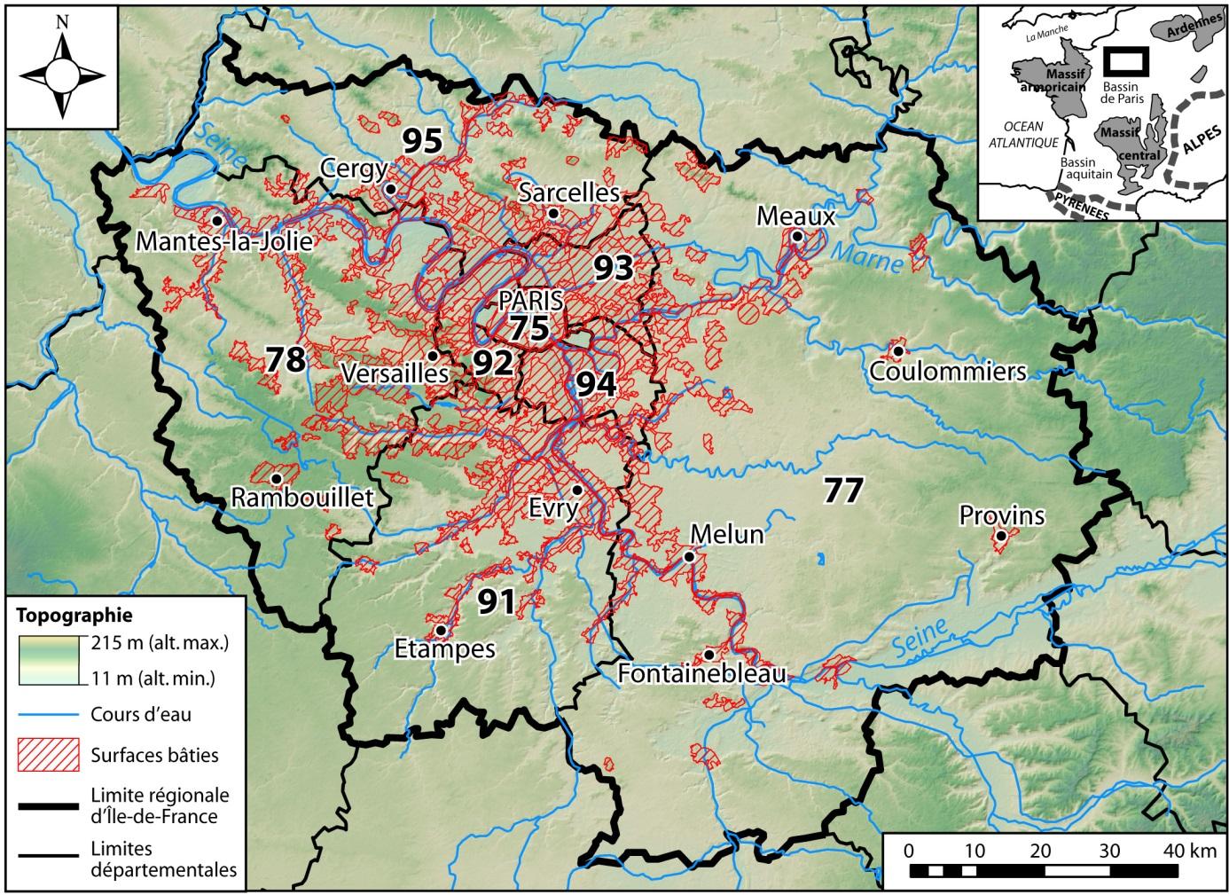 Carte Des Reliefs De L Ile De France   My blog