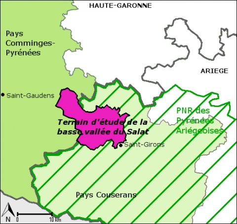 Figure 4. Les différentes structures territoriales en basse vallée du Salat / Various territorial structures in the Salat valley.
