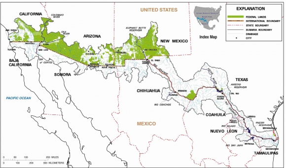 Transboundary water resource issues on the USMexico border