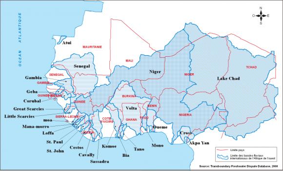Carte De Lafrique Et Ses Fleuves.Prevenir Les Conflits Et Promouvoir La Cooperation Dans La