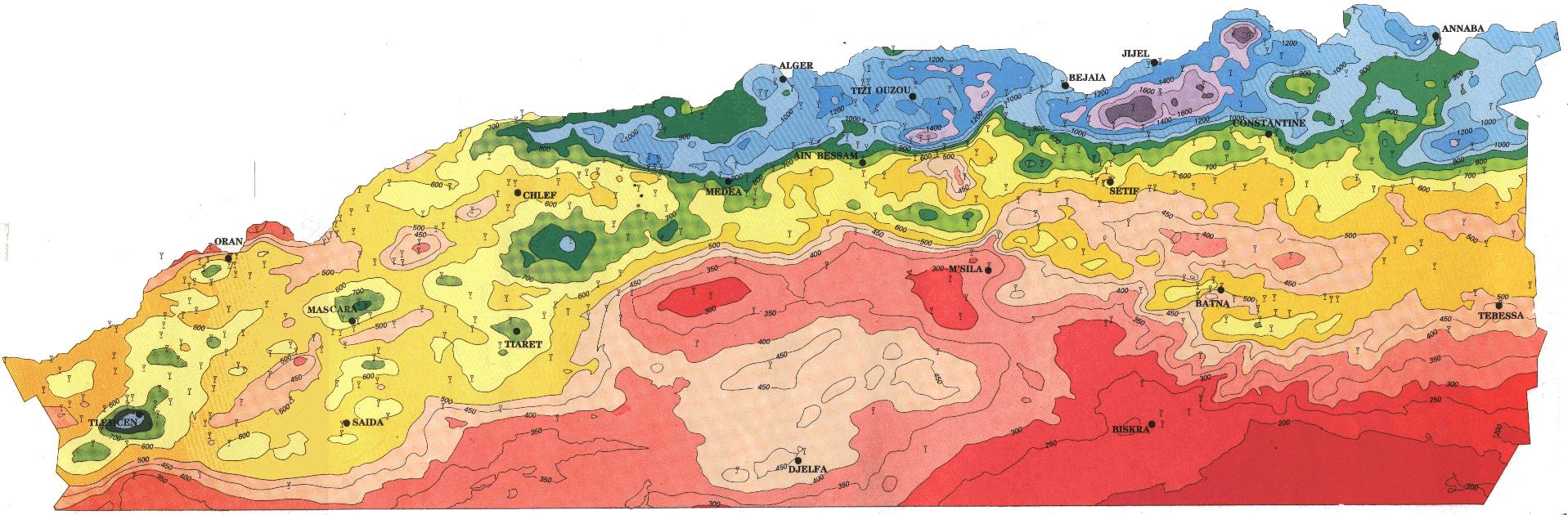 Carte Geologique De Lalgerie Du Nord.Analyse Et Suivi Du Phenomene De La Desertification En