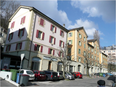 Figure 1. Le quartier du Vallon, un ensemble d'habitations ouvrières.