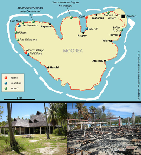 Tourist Brownfields In French Polynesia Revealing A