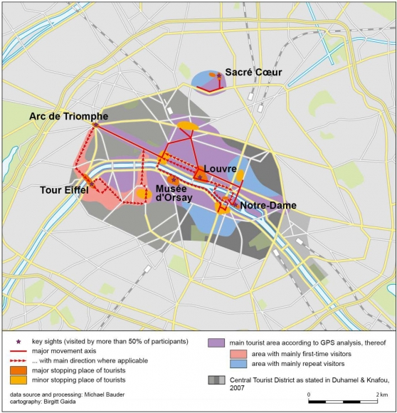 Paris Map District.Refining The Central Tourist District Of Paris With Gps Tracking