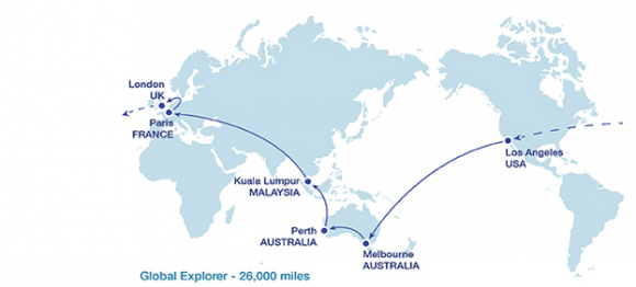 """The backpackers\' """"round the world"""" trip, standardised journey?"""
