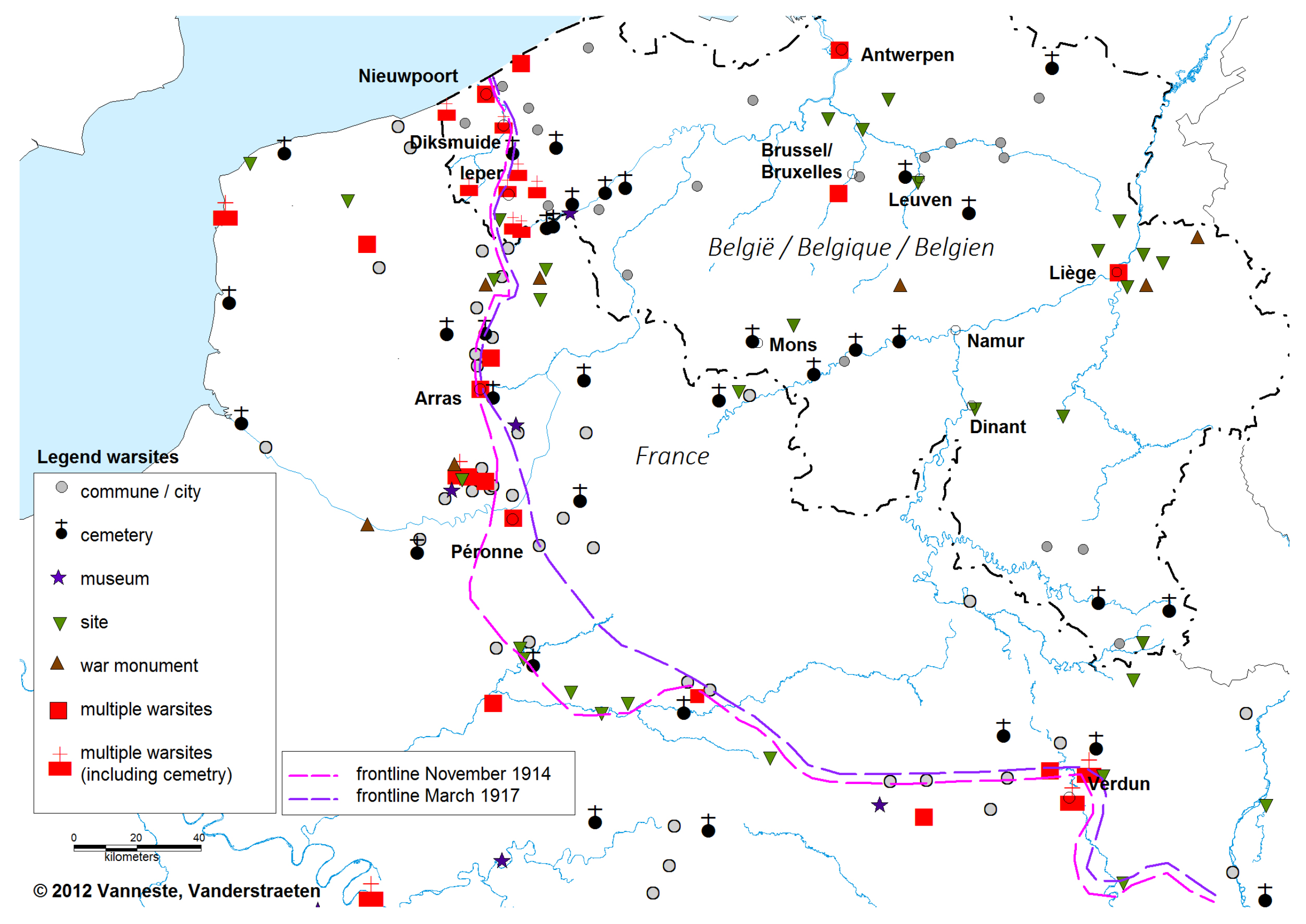 Schlachtfelder Des 2 Weltkriegs Karte.Erinnerungslandschaften Des Ersten Weltkriegs 1914 1918
