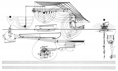 Partition graphique de Treatise par Cornelius Cardew