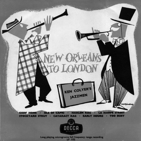 Figure 2. Couverture de l'album New Orleans to London, 1953.